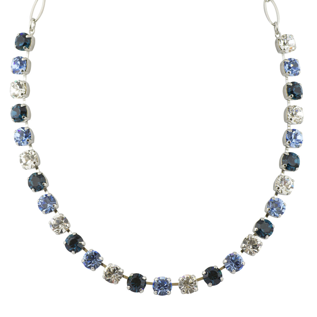 Mariana Night Sky Rhodium Plated Crystal Necklace, 18""