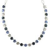 Mariana Night Sky Rhodium Plated Crystal Necklace, 18