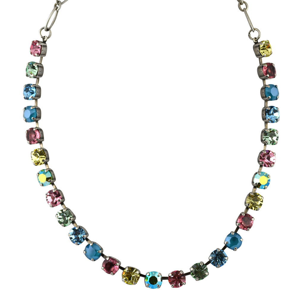 Mariana Jewelry Spring Flowers Necklace, Silver Plated with Swarovski Crystal, Nature Collection MAR-N-3252 2141 SP