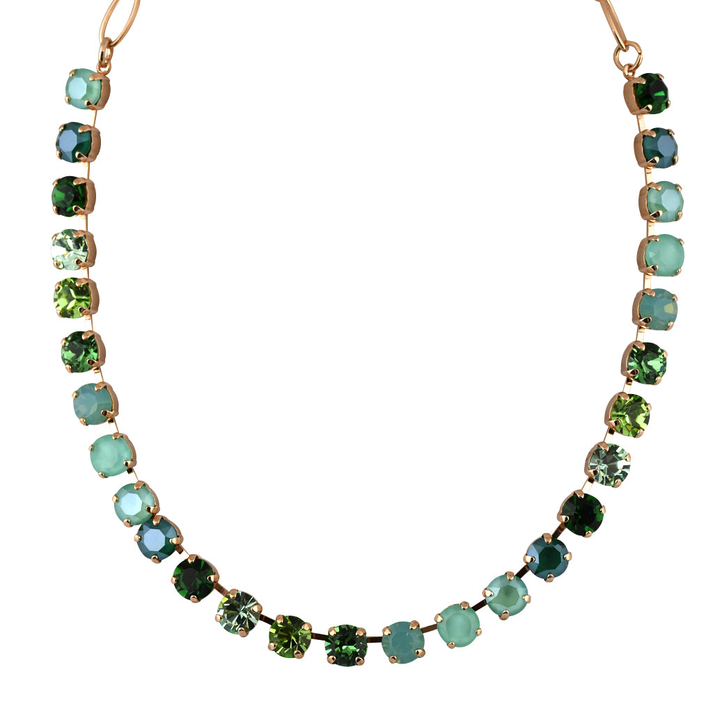 Mariana Jewelry Fern Necklace, Rose Gold Plated with Swarovski Crystal, Nature Collection MAR-N-3252 2143 RG