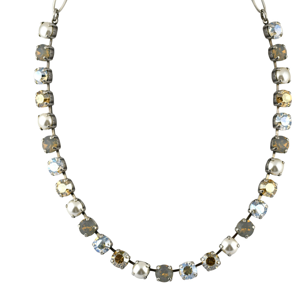 Mariana Jewelry Champagne and Caviar Necklace, Silver Plated with Swarovski Crystal, Nature Collection MAR-N-3252 3911 SP
