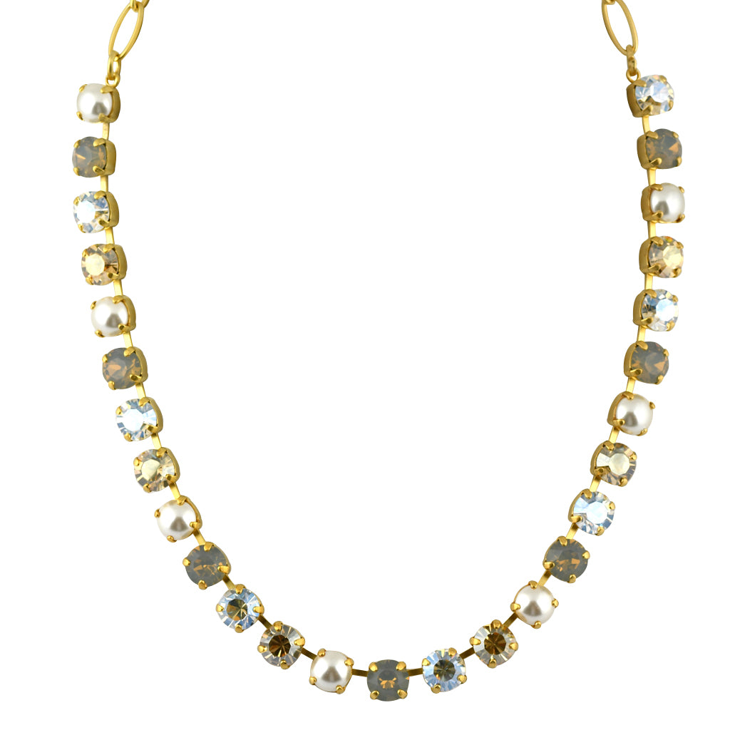 Mariana Jewelry Champagne and Caviar Necklace, Gold Plated with Swarovski Crystal, Nature Collection MAR-N-3252 3911 YG