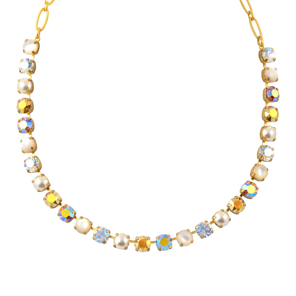 "Mariana Aurora Round Necklace, Gold Plated with Swarovski Crystal, 18"" 3252 M1093"