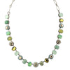 Mariana Jewelry Evergreen Oval Necklace, Silver Plated with Crystal, 18