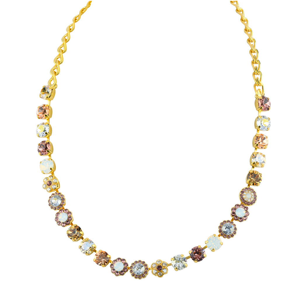 "Mariana Jewelry Gold Plated ""Creme Brulee"" Large Crystal Necklace"