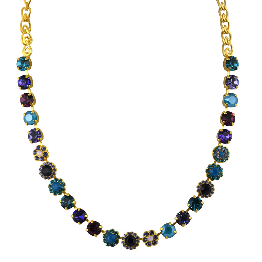 Mariana Jewelry Peacock Necklace, Gold Plated with Swarovski Crystal, Nature Collection MAR-N-3479 2139 YG