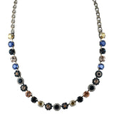 Mariana Jewelry Ocean Necklace, Silver Plated with Swarovski Crystal, Nature Collection MAR-N-3479 2142 SP