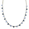 Mariana Night Sky Oval Necklace, Rhodium Plated Swarovksi Crystal, 8