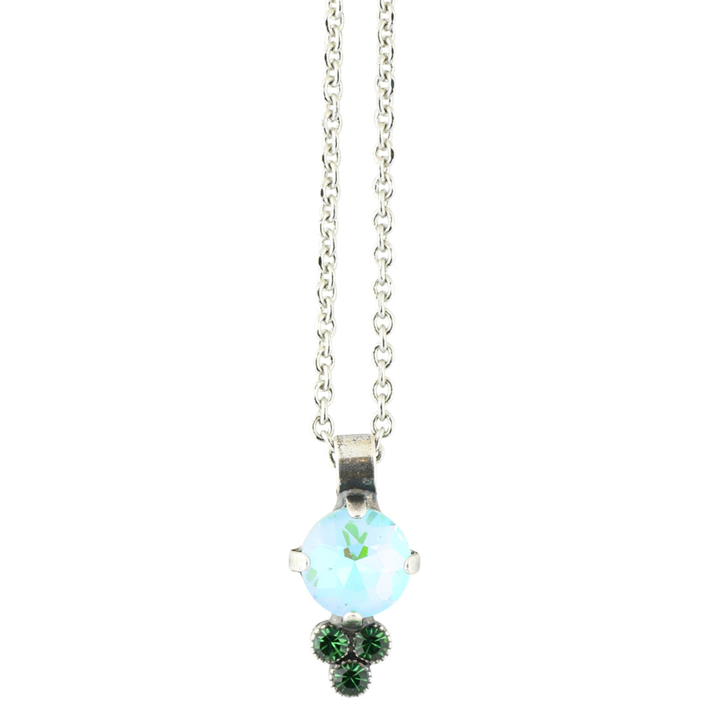 "Mariana ""Ivy"" Silver Plated Crystal Cluster Necklace"