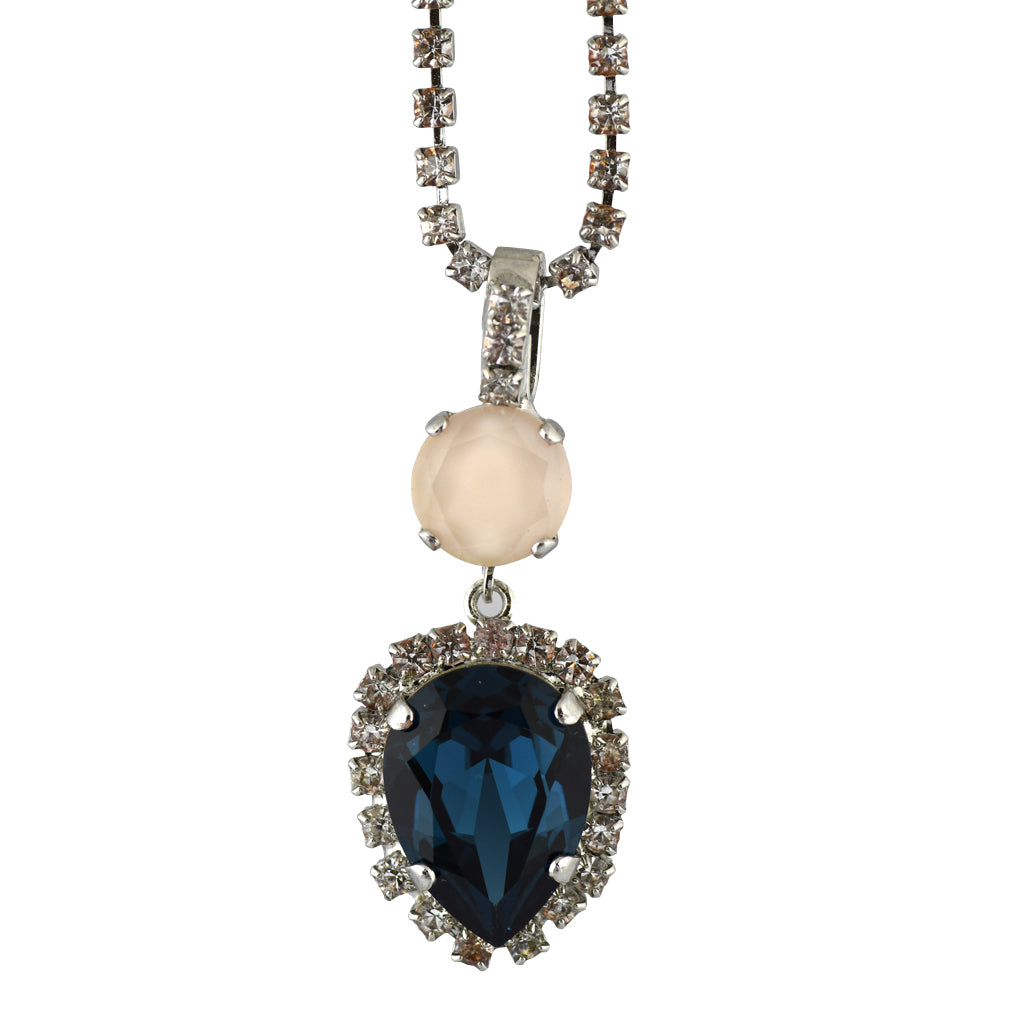 Mariana Jewelry Ocean Necklace, Silver Plated with Swarovski Crystal, Nature Collection MAR-N-5098_90 2142 SP