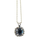 Mariana Ocean Silver Plated Pendant Necklace