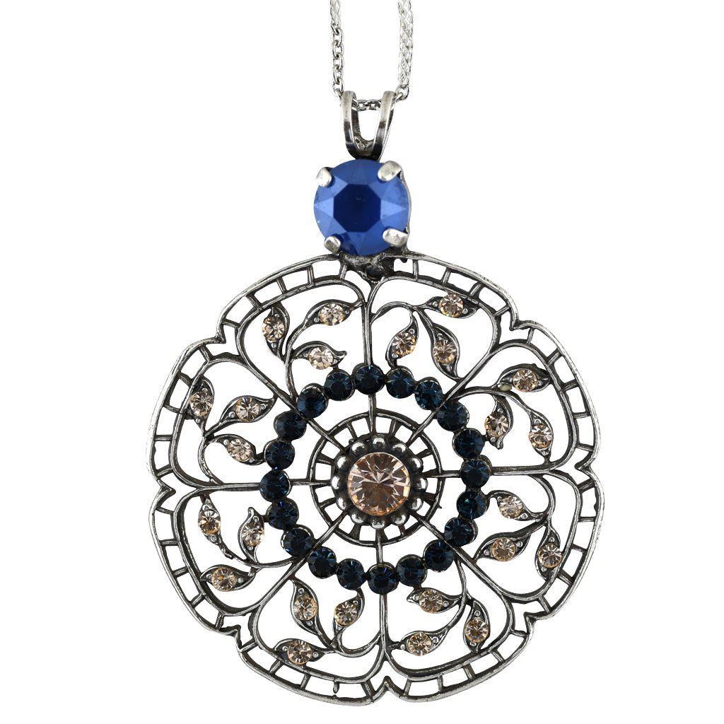 Mariana Jewelry Ocean Necklace, Silver Plated with Swarovski Crystal, Nature Collection MAR-N-5210 2142 SP