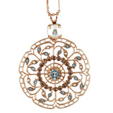 Mariana Jewelry Seashell Necklace, Rose Gold Plated with Swarovski Crystal, Nature Collection MAR-N-5210 39361 RG