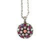 Mariana Jewelry Smashing Pink Necklace, Silver Plated with Swarovski Crystal, Nature Collection MAR-N-5212 1207 SP