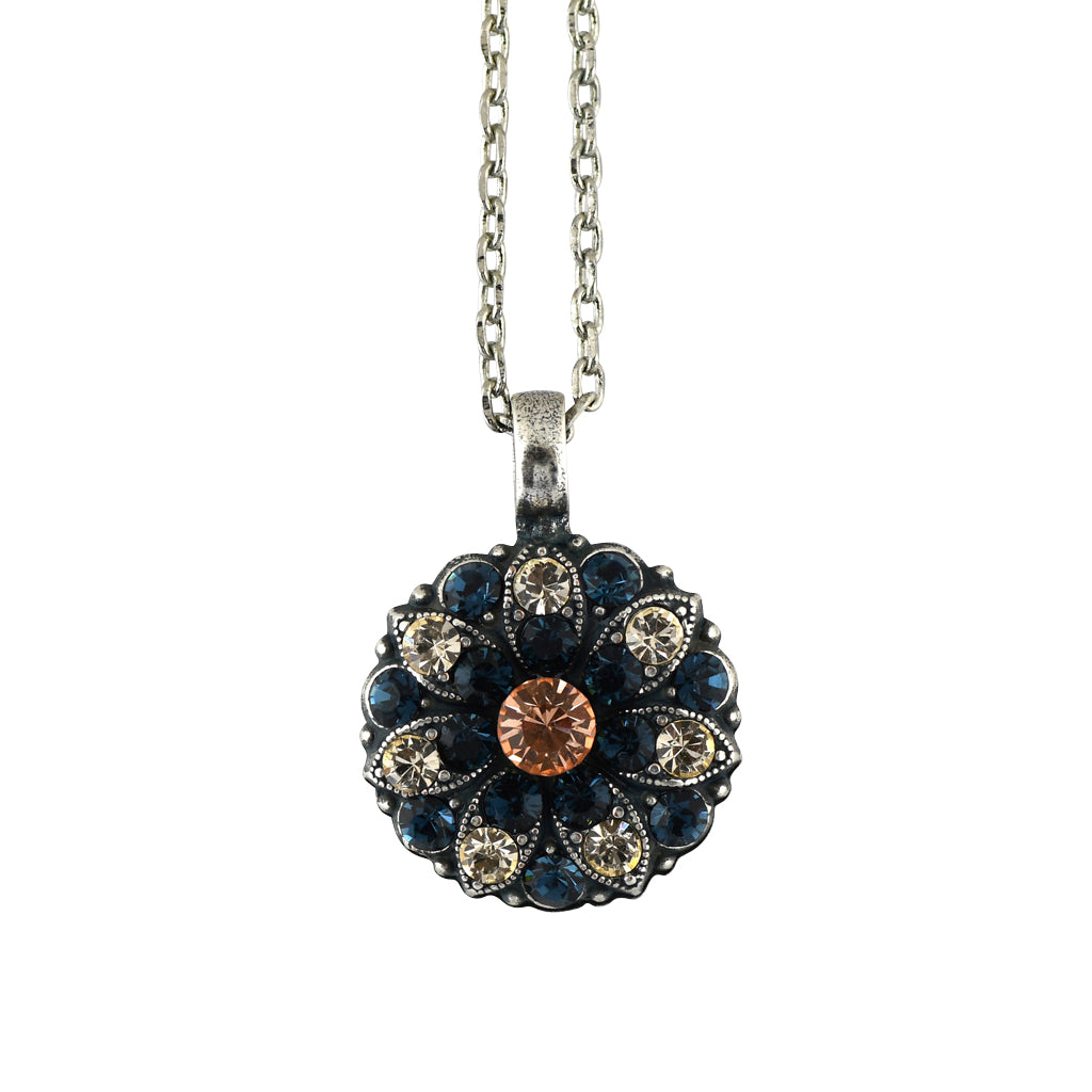 Mariana Jewelry Ocean Necklace, Silver Plated with Swarovski Crystal, Nature Collection MAR-N-5212 2142 SP