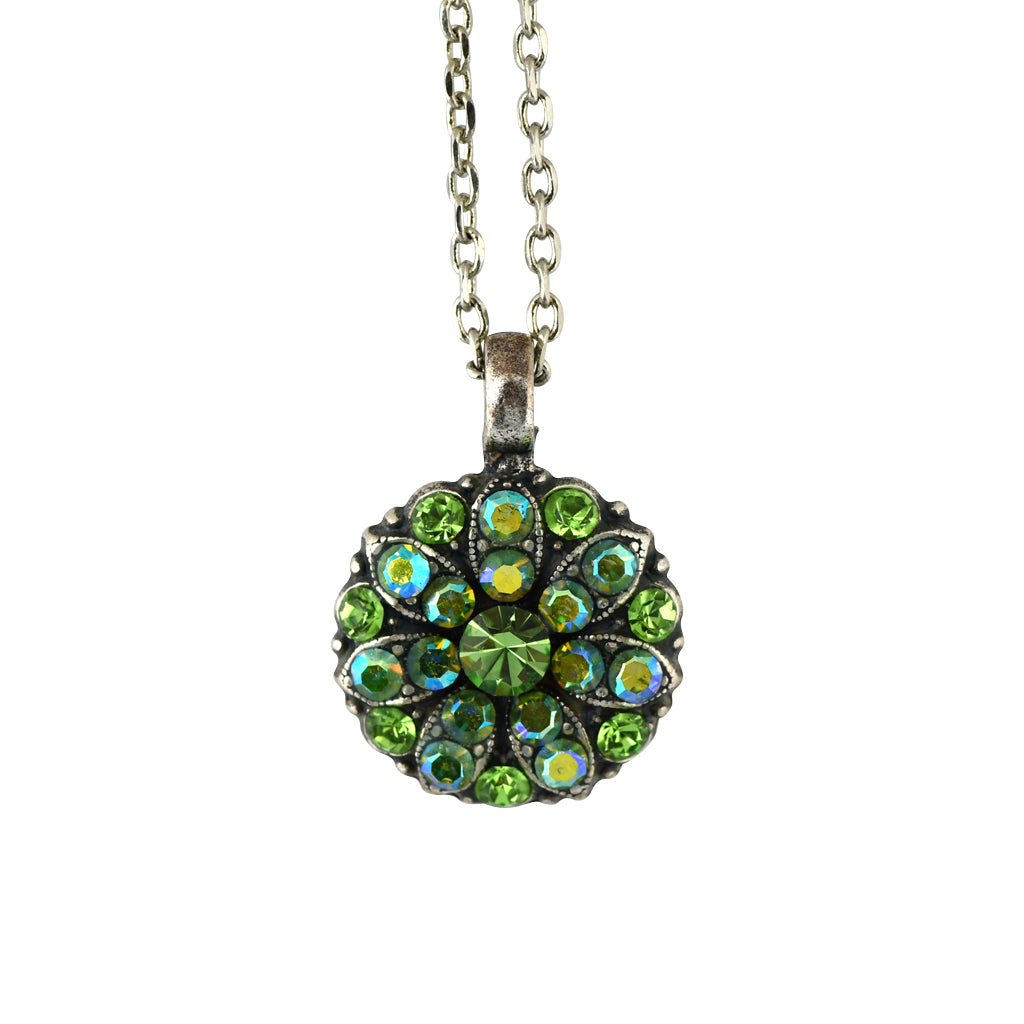 Mariana Jewelry Peridot Necklace, Silver Plated with Swarovski Crystal, Nature Collection MAR-N-5212 214AB SP