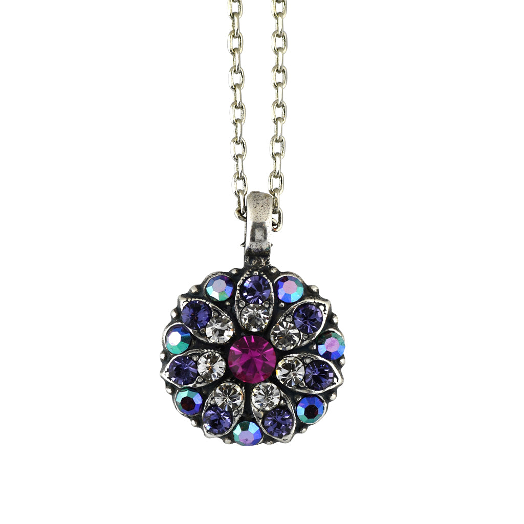 Mariana Jewelry Pink Necklace, Silver Plated with Swarovski Crystal, Nature Collection MAR-N-5212 300-1 SP