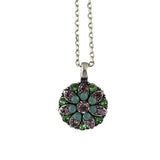 Mariana Jewelry Green Necklace, Silver Plated with Swarovski Crystal, Nature Collection MAR-N-5212 657 SP