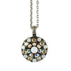 Mariana Jewelry White Opal Necklace, Silver Plated with Swarovski Crystal, Nature Collection MAR-N-5212 777 SP