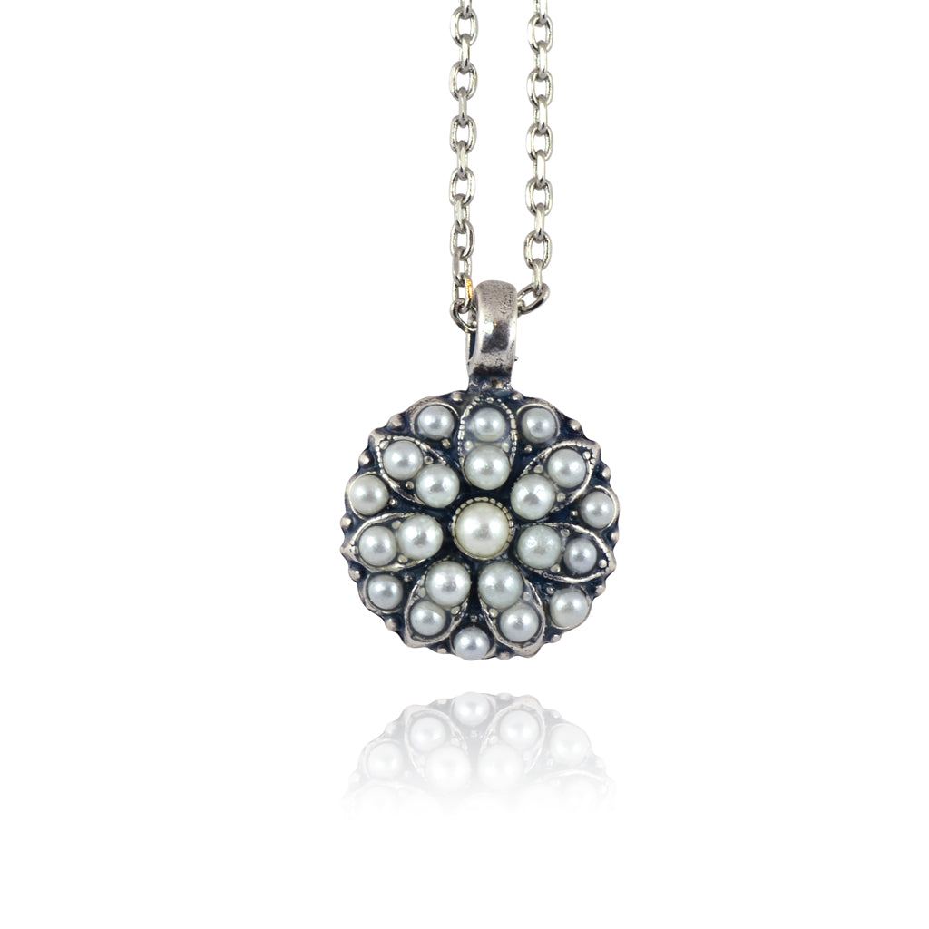 elantee jewelry infinity products oncard pendant necklace sheva pearl june birthstone sterling