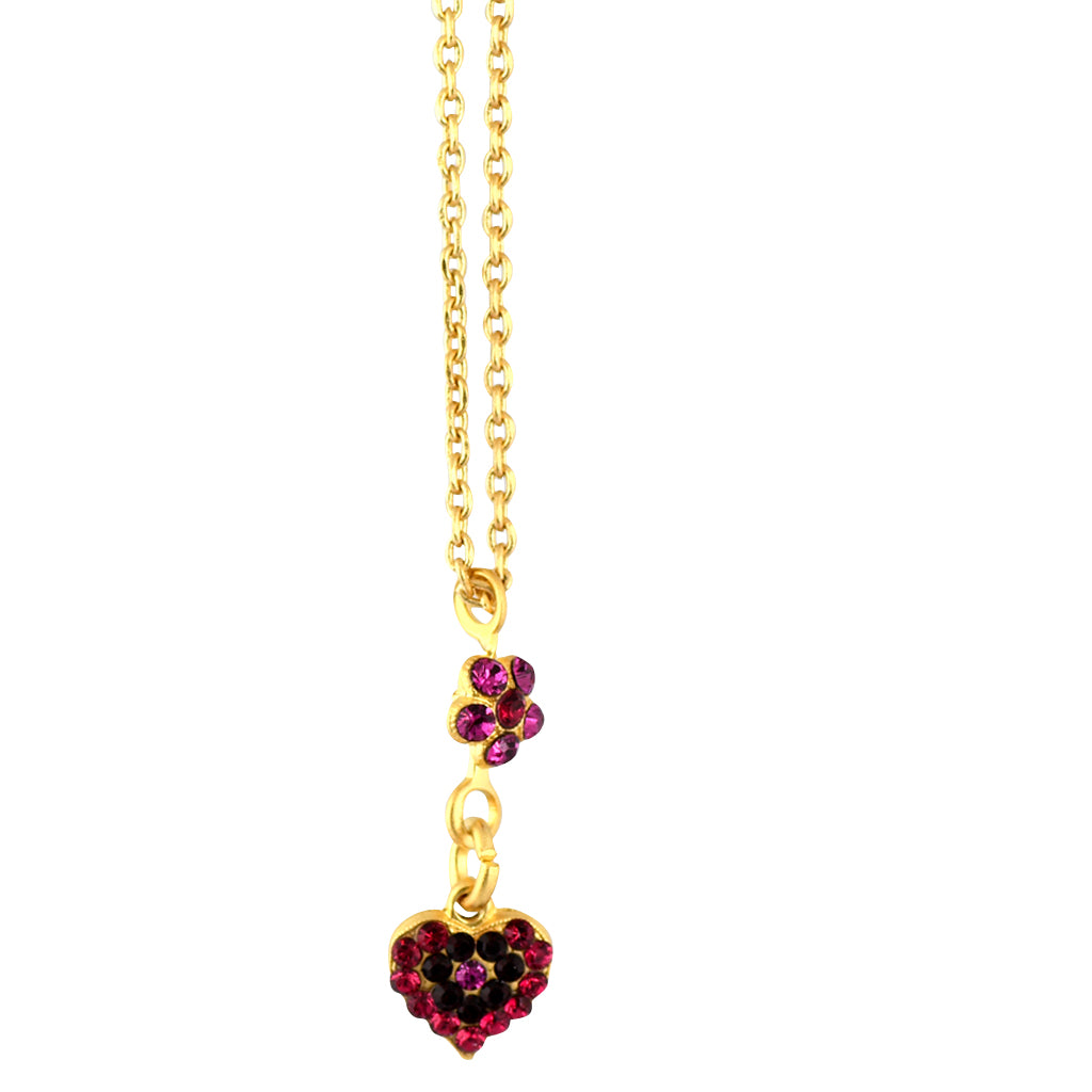 Mariana Jewelry Firefly Necklace, Gold Plated with Swarovski Crystal, Nature Collection MAR-N-5322_9 2140 YG