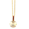 Mariana Jewelry Gingerbread Gold Plated Round Pendant Necklace 5326/2