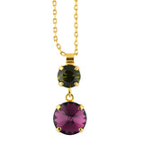 Mariana Jewelry Holiday Lights Round Pendant Neckalce, Gold Plated, 18