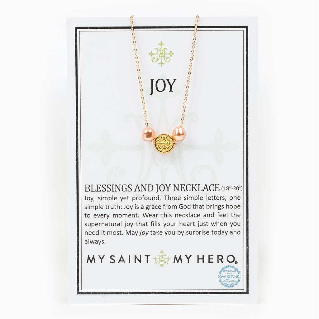 My Saint My Hero Blessings And Joy Necklace, Adjustable (Gold Plated)
