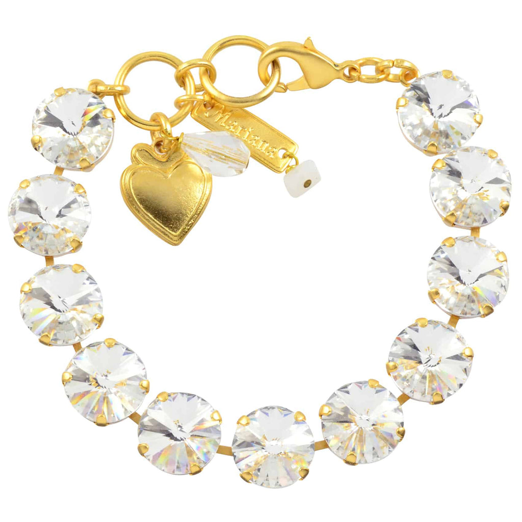 Mariana Jewelry On A Clear Day Large Tennis Bracelet, Gold Plated with Burst Swarovski Crystal, 8 4474R 001001