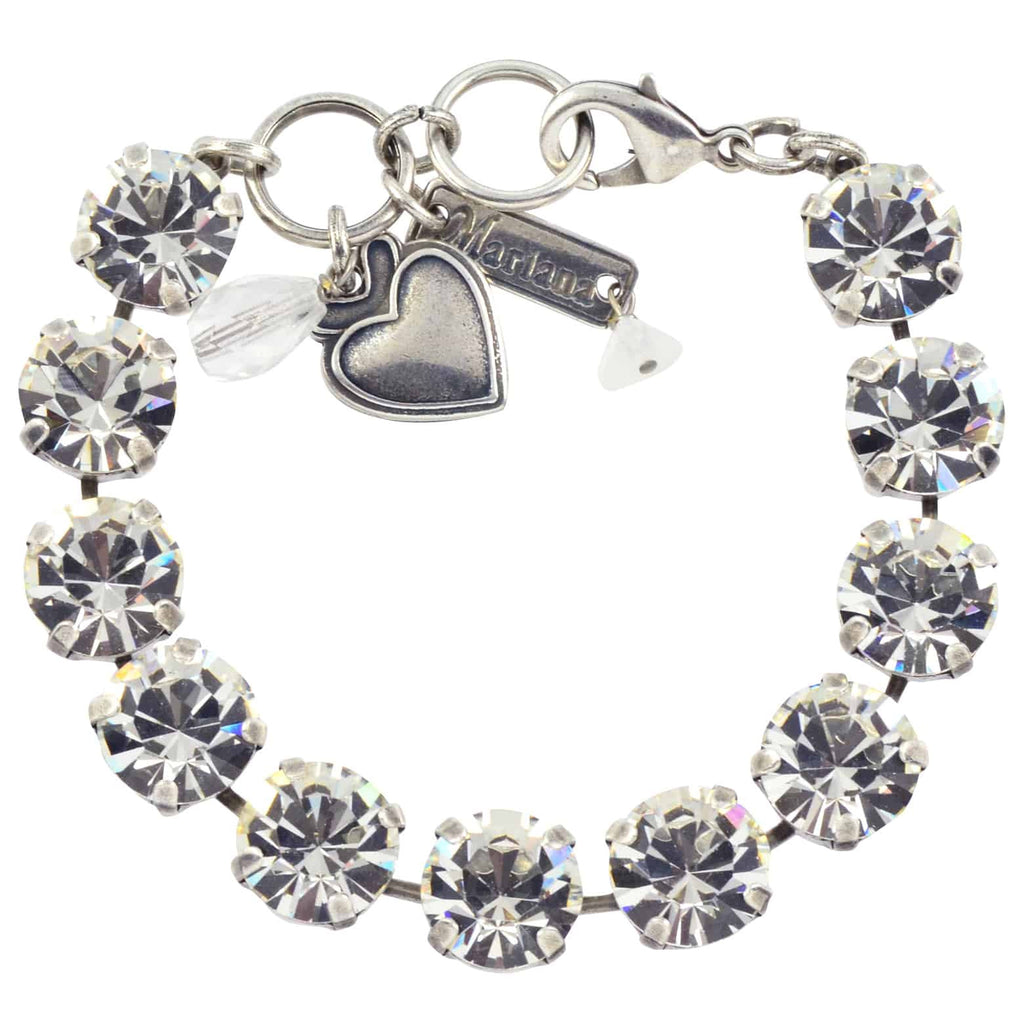 Mariana Jewelry On A Clear Day Large Tennis Bracelet, Silver Plated with Swarovski Crystal, 8 4474 001001