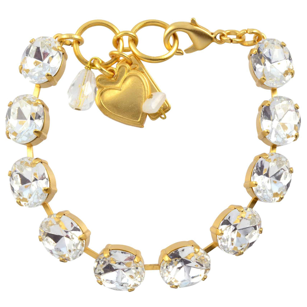 Mariana Jewelry On A Clear Day Oval Tennis Bracelet, Gold Plated with Swarovski Crystal, 8 4023/1 001001