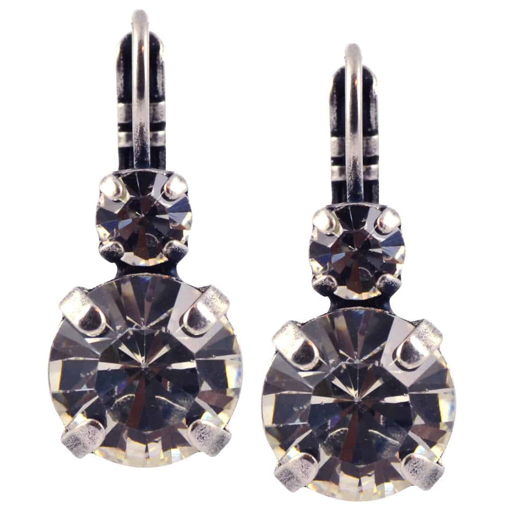 Mariana Jewelry On A Clear Day Round Drop Earrings, Silver Plated with Swarovski Crystal 1037 001001