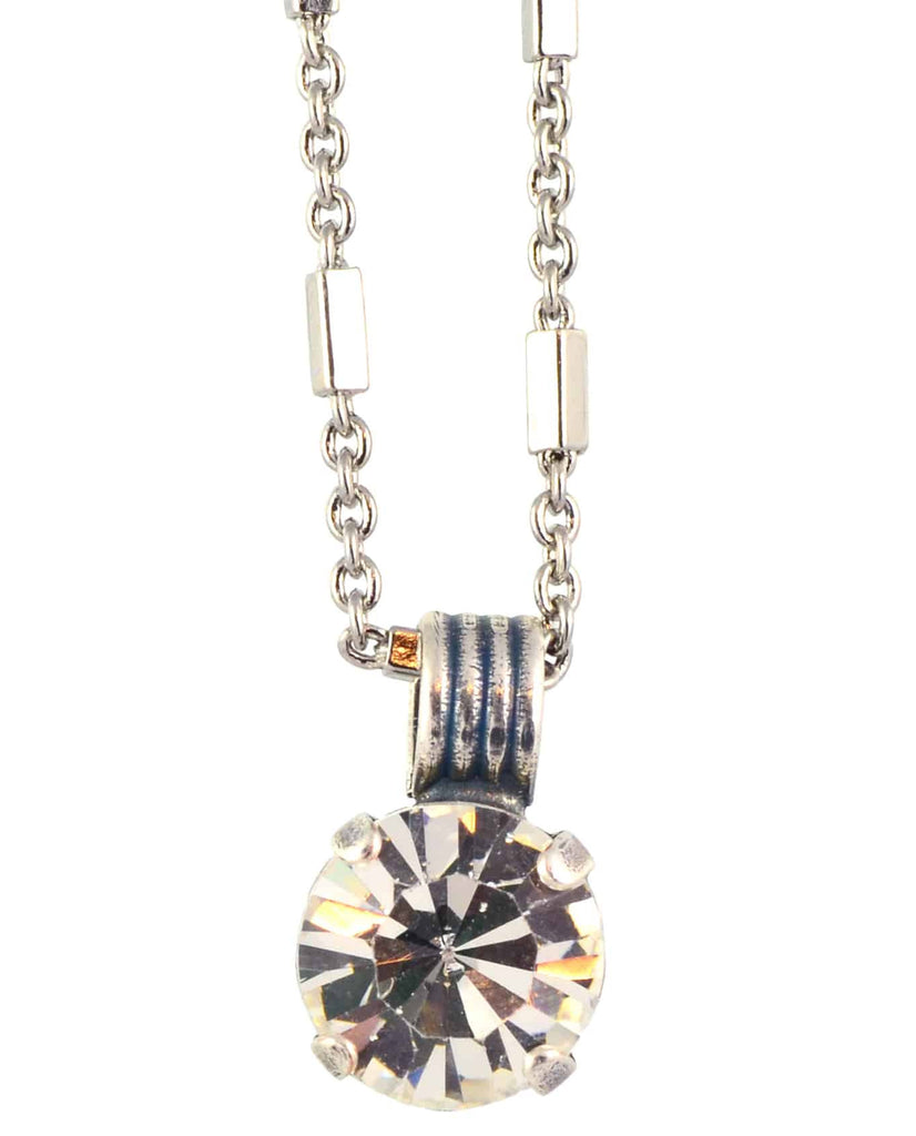 Mariana Jewelry On A Clear Day Round Pendant Neckalce, Silver Plated with Swarovski Crystal, 18 5445 001