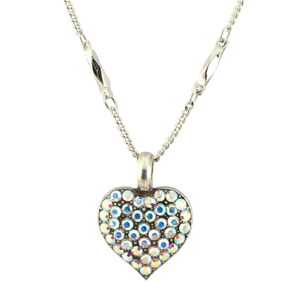 Mariana Jewelry On A Clear Day Silver Plated Swarovski Crystal Heart Pendant Necklace, 16+4