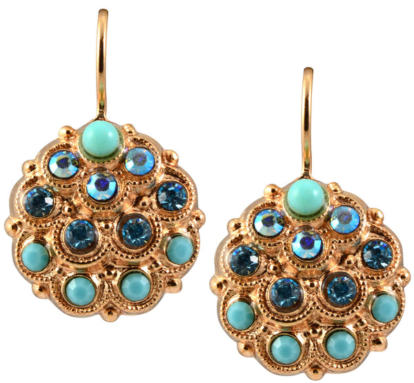 Mariana Bliss Rose Gold Plated Swarovski Crystal Peacock Drop Earrings
