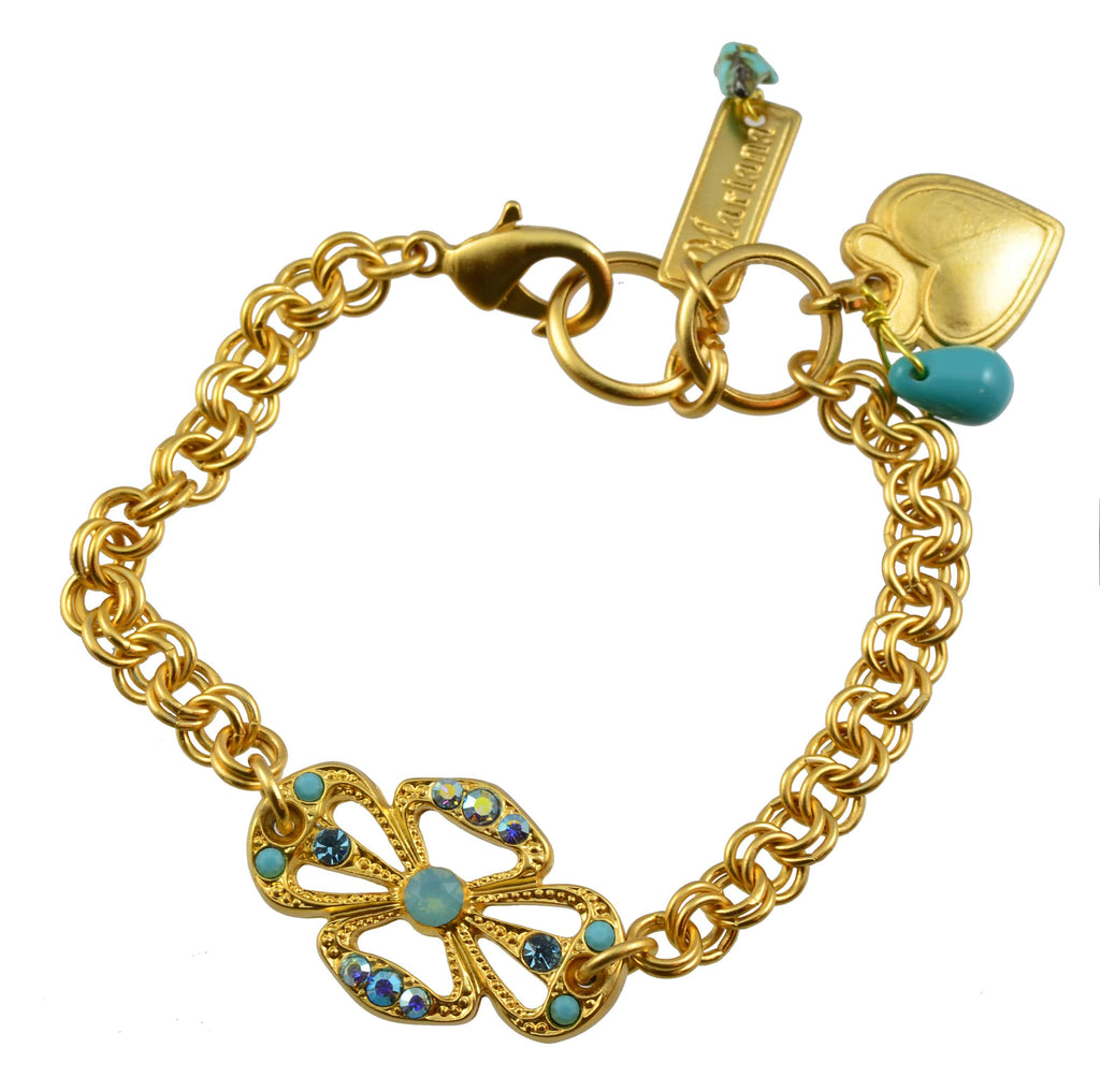 Mariana Jewelry Cindy Gold Plated Swarovski Crystal Bow Tennis Bracelet
