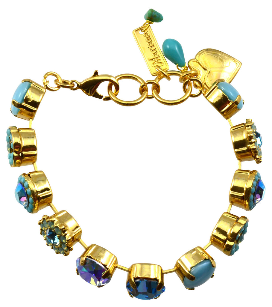Mariana Cindy Gold Plated Swarovski Crystal Tennis Bracelet, 8