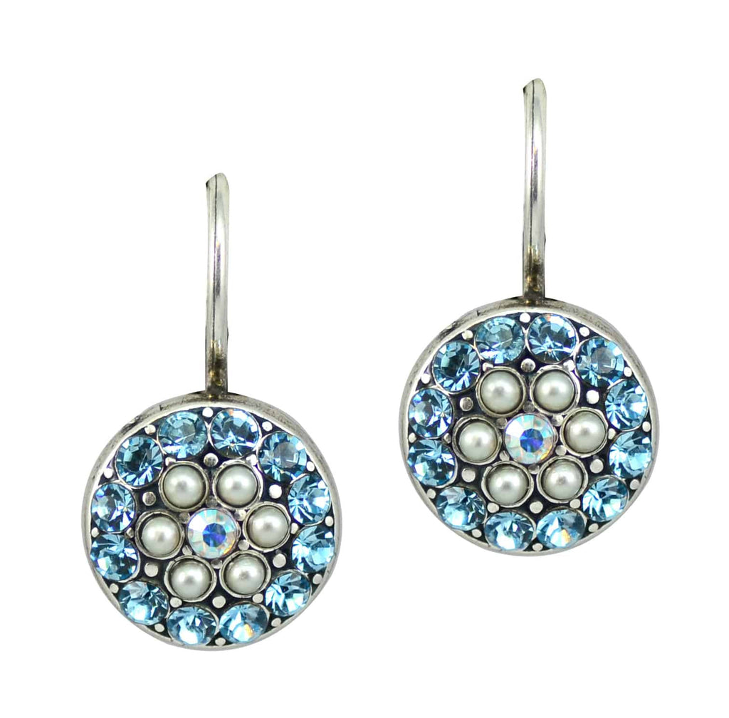 Mariana Jewelry Coco Silver Plated Jewel Cluster Swarovski Crystal Drop Earrings