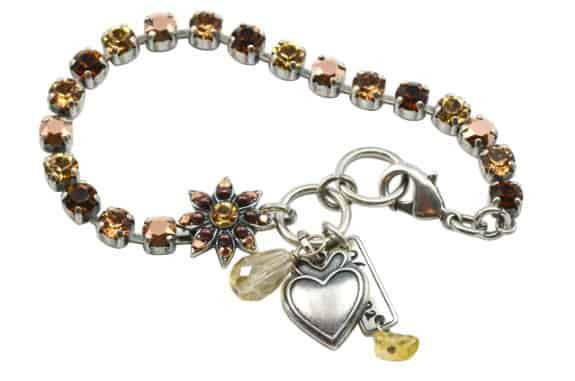 Mariana Dancing in the Moonlight Silver Plated Swarovski Crystal Tennis Bracelet, 8