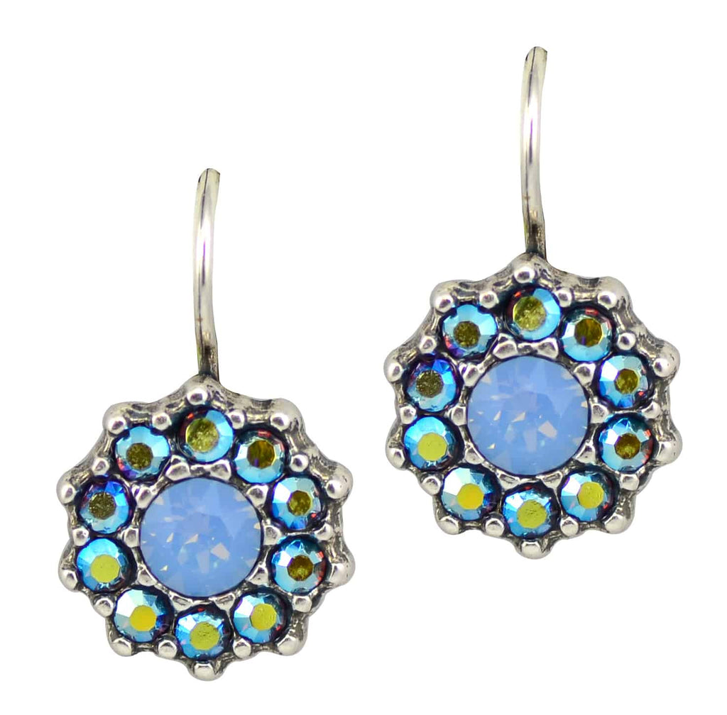 Mariana Jewelry Diana Silver Plated Large Jewel Cluster Swarovski Crystal Drop Earrings