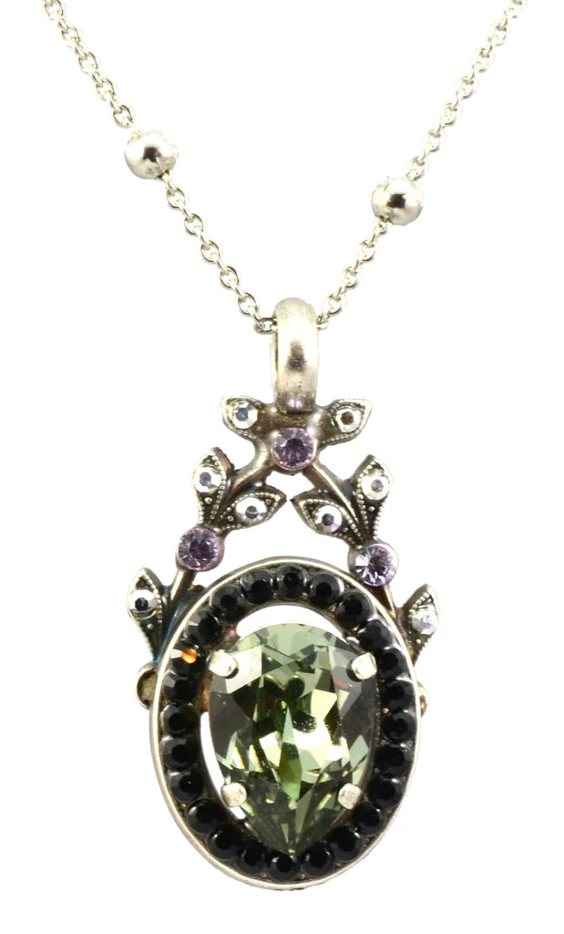 Mariana Discover Silver Plated Swarovski Crystal Pendant Necklace, 22+4
