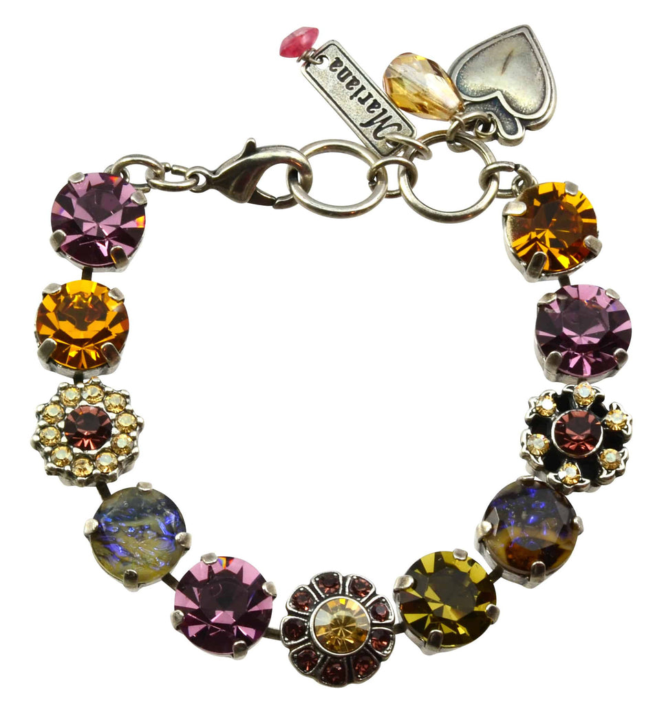 Mariana Jewelry Dream Silver Plated Swarovski Crystal Tennis Bracelet