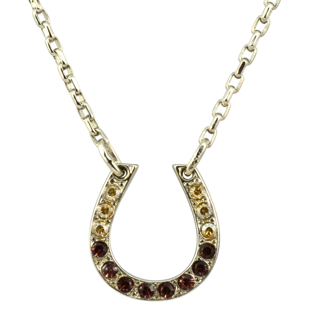 Mariana Dream Silver Plated Swarovski Crystal Horseshoe Necklace