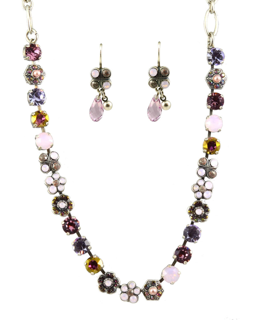 Mariana Elizabeth Necklace and Earrings Set With Silver Plated Fairy Wings Swarovski Crystal