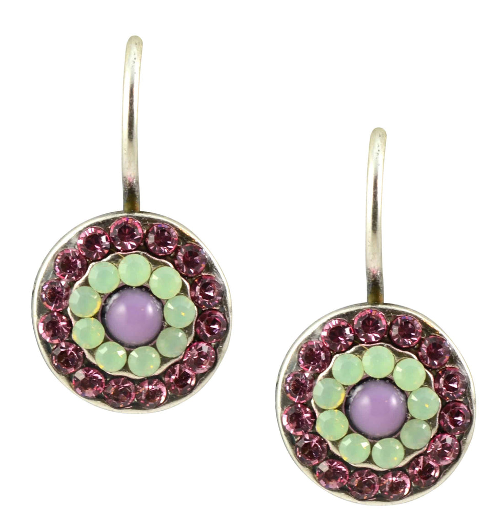 Mariana Jewelry Eternity Silver Plated Swarovski Crystal Petite Concentric Drop Earrings