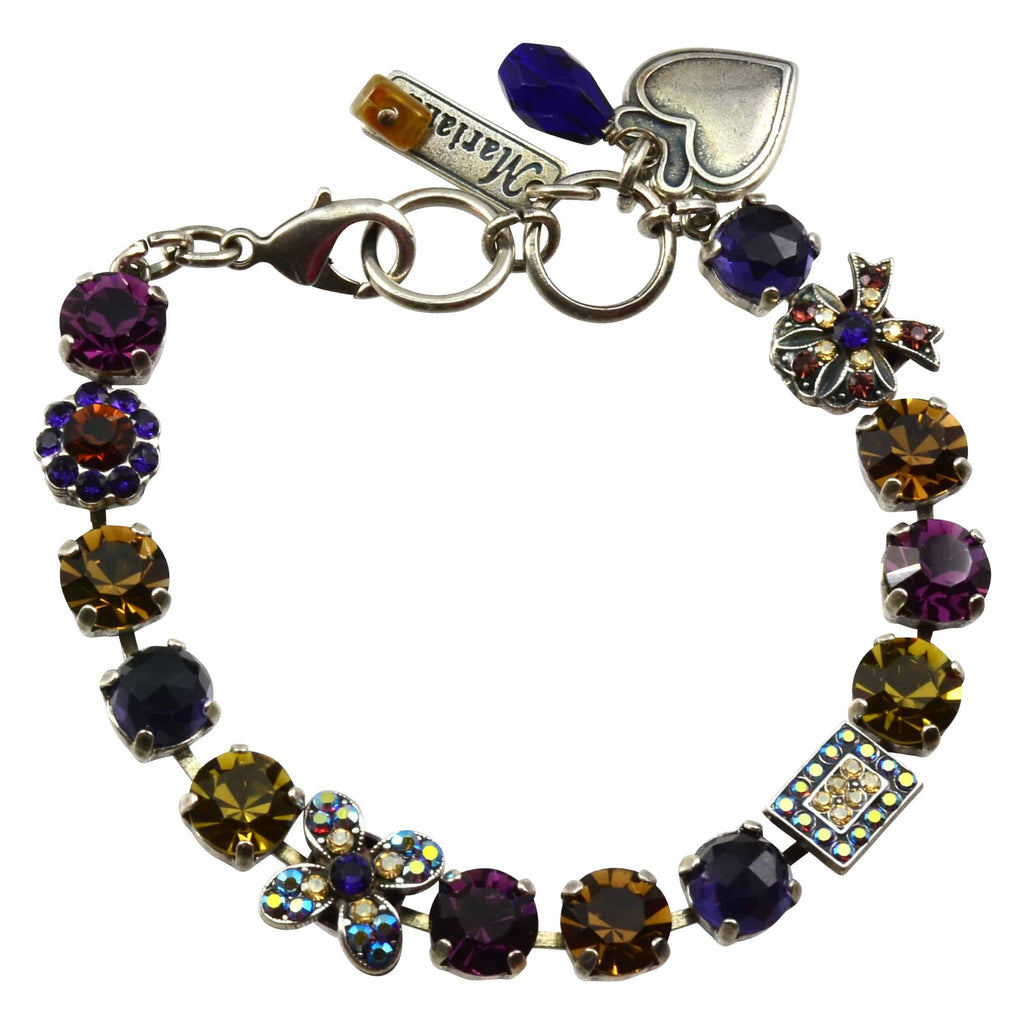 Mariana Jewelry Faith Silver Plated Swarovski Crystal Bow Bracelet