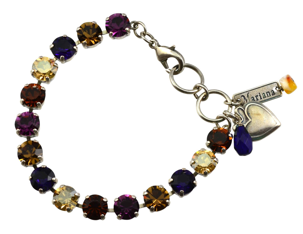 Mariana Jewelry Faith Silver Plated Swarovski Crystal Tennis Bracelet, 8
