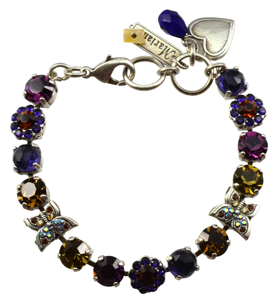 Mariana Jewelry Faith Silver Plated Swarovski Crystal Butterfly Bracelet