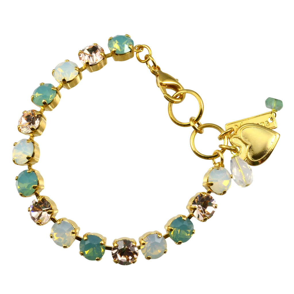 Mariana Jewelry Gold Plated Swarovski Crystal Tennis Bracelet, 8