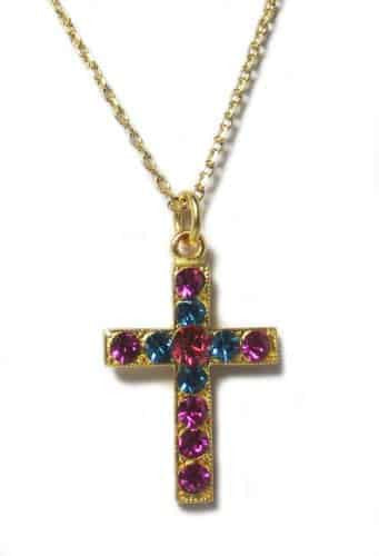 Mariana Jewelry Gold Plated Swarovski Crystal Cross Pendant Necklace